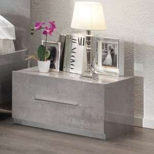 Gianna Bedside Cabinet In Grey Marble Effect Gloss