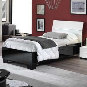 Gianna Modern Single Bed In Black And White Gloss