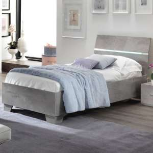 Gianna Modern Single Bed In Grey Marble Effect Gloss