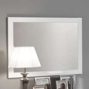 Gianna Wall Mirror Rectangular In White Gloss