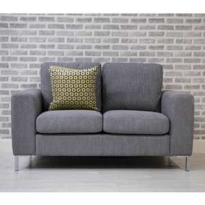 Gibson Fabric Upholstered 2 Seater Sofa In Grey