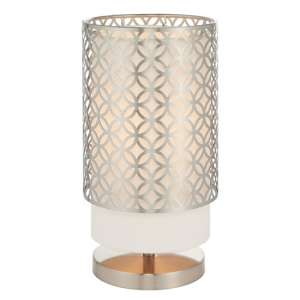 Gilli Table Lamp In Nickel And Vintage White