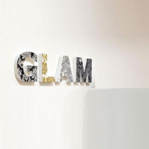 Glam Wooden Words Wall Art