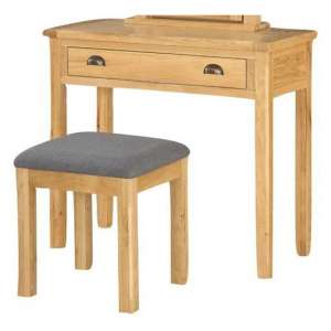 Glenbrook Dressing Table With Stool In Oak