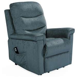 Glencoe Electric Fabric Recliner Chair In Charcoal