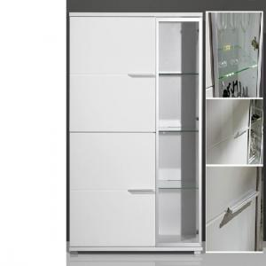 Nevada Gloss White 3 Door Entertainment Cabinet