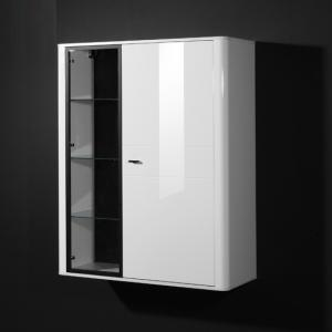 Monza Gloss White Display Cabinet