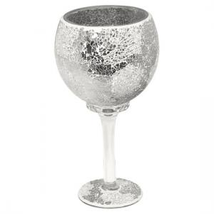 Mosaic Hurricane Goblet In Mirrored Glass