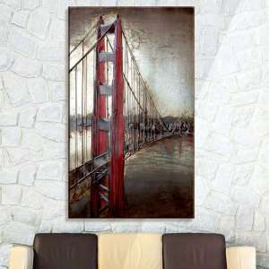 Golden Gate Picture Metal Wall Art In Brown
