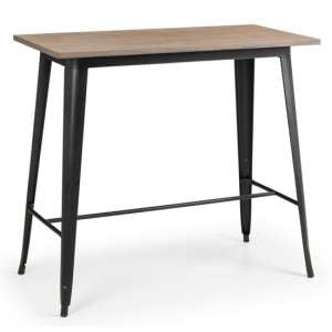 Grafton Wooden Bar Table In Mocha Elm