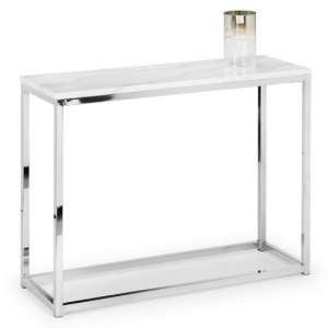 Angeles Marble Effect Top Console Table Rectangular In White