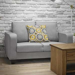 Canes Linen Fabric 2 Seater Sofa In Grey