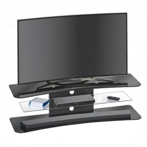 Hailey TV Stand Rectangular In Black Glass