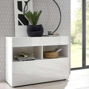 Halcyon Wooden Sideboard In White High Gloss