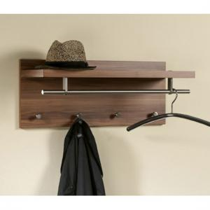 Pablo3 Walnut Wall Mounted Hallway Stand