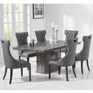 Hamlet Marble Small Grey Dining Table With Four Tybrook Chairs