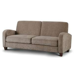 Hampshire Fabric 3 Seater Sofa In Mink Chenille