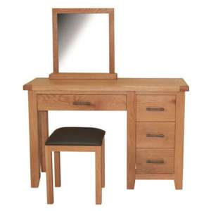 Hampshire Wooden 3PC Dressing Table Set In Oak