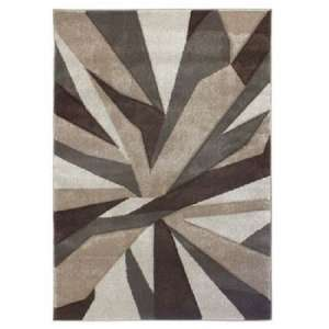 Hand Carved Shatter Beige And Brown Rug