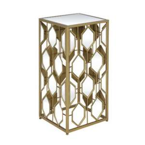 Hannover Mirrored Side Table Small In Gold