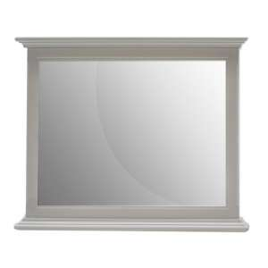 Harlow Wall Bedroom Mirror In Grey Wooden Frame