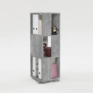 Harper Swivelling Storage Tower In Light Atelier