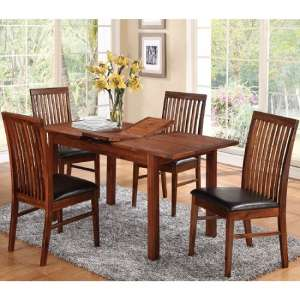 Hart Dining Table In Acacia With Four Strathmore Dining Chairs