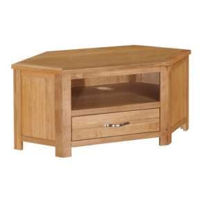 Hart Wooden Corner TV Stand In Oak Finish