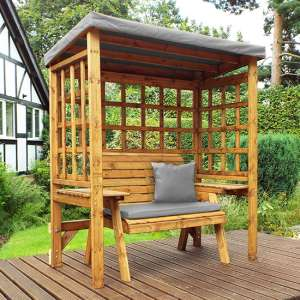 Hatso Wentworth 2 Seater Arbour In Grey
