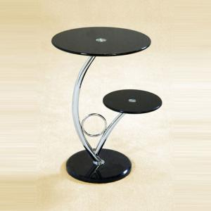 Hawaii End Side Table In Black Glass Tops