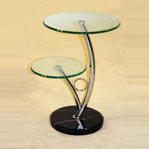 Hawaii End Side Table In Clear Glass Tops