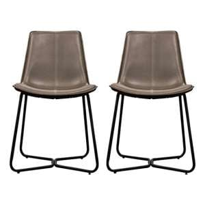 Hawking Ember Leather Bistro Chair In Pair