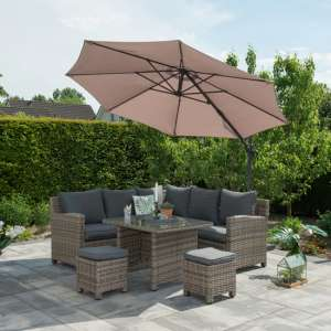 Hawo Round Cantilever Parasol With Cross Base In Dark Grey