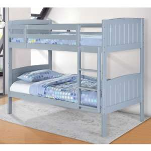 Hayes Wooden Bunk Bed In Grey