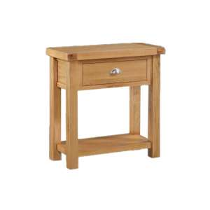 Heaton Large Side Table In Rustic Light Oak With 1 Drawer