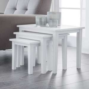 Heaton Wooden Set Of 3 Nest of Tables In White