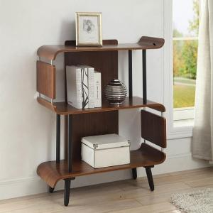 Hector Contemporary Wooden Bookcase In Walnut