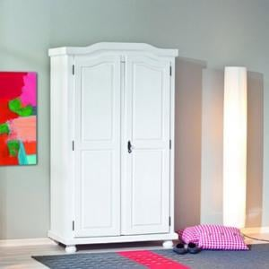 Hedda White Solid Wood Wardrobe