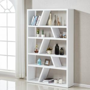 Helix Contemporary Bookcase Or Shelving Unit In White High Gloss