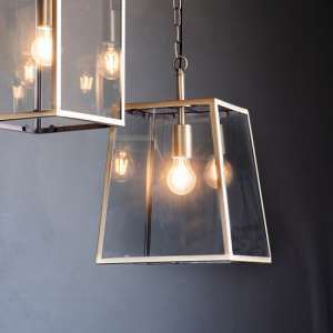 Hellier Pendant Light With Glass Frame