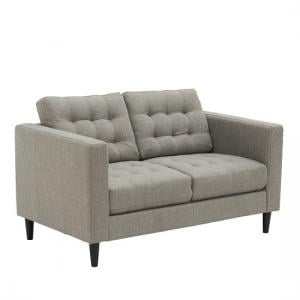 Henley Contemporary 2 Seater Sofa In Grey Fabric