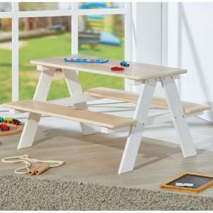Henning Wooden Children Desk And Seat In Solid Pine