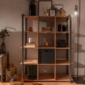 Hercules Bookcase In Artisan Oak And Anthracite Grey