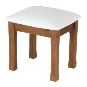 Herndon Wooden Dressing Table Stool In Lacquered
