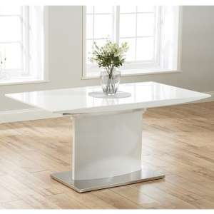 Heydan Extending Wooden Dining Table In White High Gloss