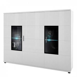 Corona Highboard In White High Gloss With 3 Doors