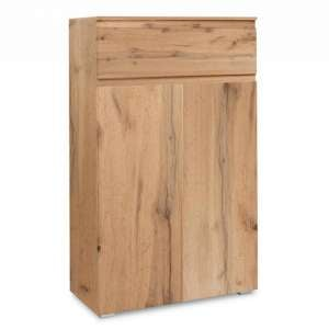 Hilary Modern Wooden Shoe Storage Cabinet In Golden Oak