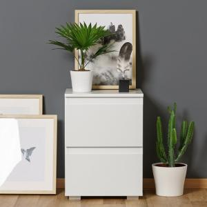Hilary Contemporary Wooden Bedside Cabinet In White