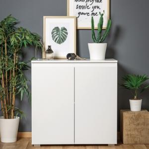 Hilary Wooden Compact Sideboard In White