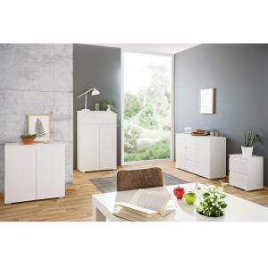 Hilary Wooden Compact Sideboard In White_4